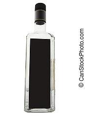 Bottle of vodka under the white background