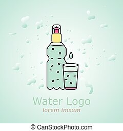 bottle of water for your design and logo.