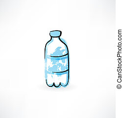 bottle of water grunge icon