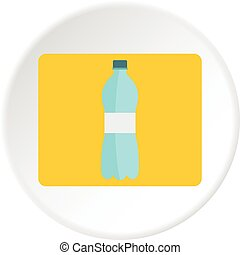 Bottle of water icon circle