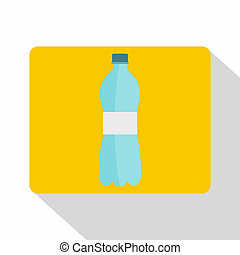 Bottle of water icon, flat style