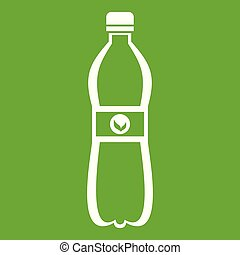 Bottle of water icon green