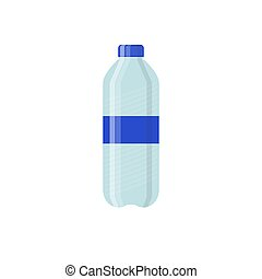Bottle of Water Icon in Flat Style Isolated on White Background. Vector illustration.