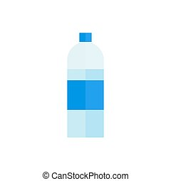 Bottle of water. Icon on isolated background