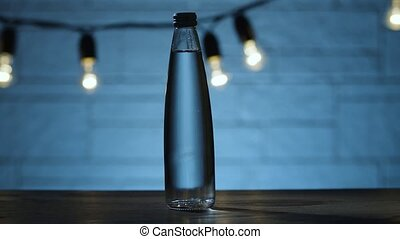 Bottle of water on the table