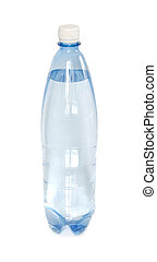 Bottle of water on white background