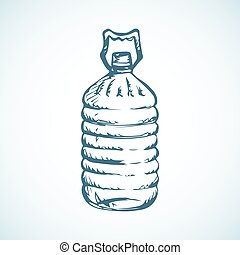 Bottle of water. Vector drawing