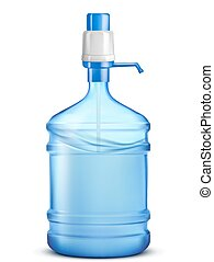 Bottle of water. Vector illustration