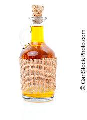 bottle of whiskey / scotch / wine on white