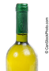 bottle of white wine close-up