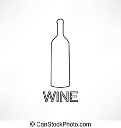 bottle of wine and a glass icon