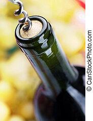 Bottle of Wine closeup