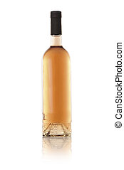 bottle of wine (isolated on white)