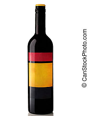 Bottle of wine on a white background