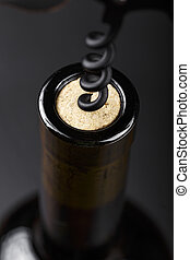 bottle of wine with cork