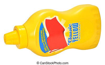 Bottle Of Yellow Mustard