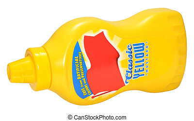 Bottle Of Yellow Mustard