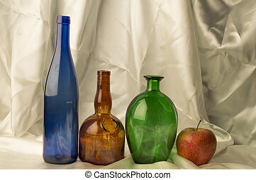 Bottle on a light background
