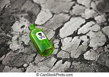 Bottle on poisoned ground