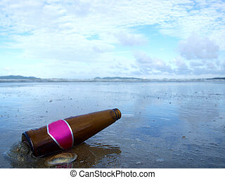 Bottle on the beach