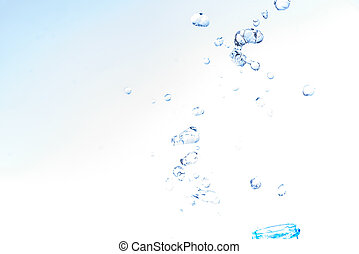 Bottle opening with water splashing isolated on white background.