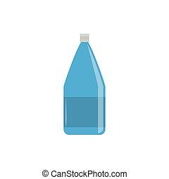 bottle plastic flat icon blue