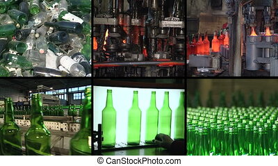 bottle production collage