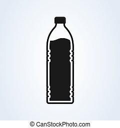 bottle Simple symbol. flat style. Vector illustration icon isolated on white background