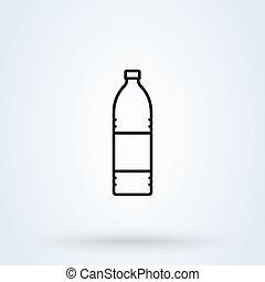 bottle Simple symbol. Line art flat style. Vector illustration icon isolated on white background
