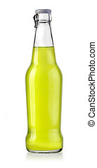 bottle soda water - bottle with tasty drink isolated on...