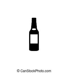 bottle vector icon flat