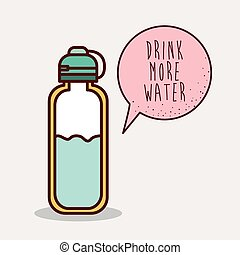 Reusable water bottle isolated on transparent background ...