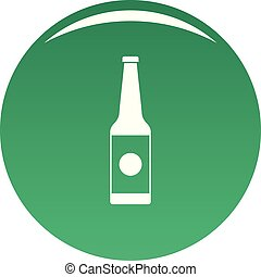 Bottle water icon vector green