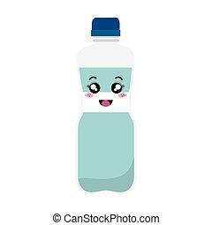 bottle water kawaii style