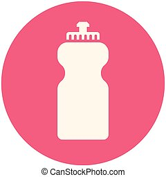 Bottle water, modern flat icon