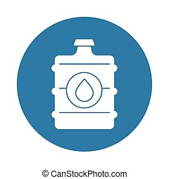 bottle water silhouette block style icon