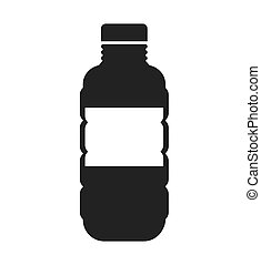 bottle water silhouette icon