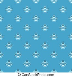 Bottle wine pattern vector seamless blue