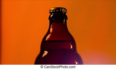 bottle with a beer