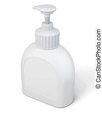Bottle with a pump