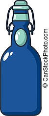 Bottle with bung icon, cartoon style