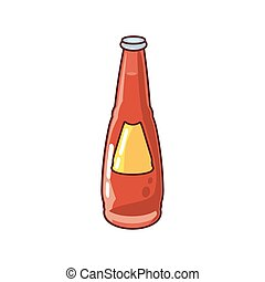 bottle with drink on white background