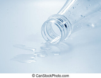bottle with drops of water