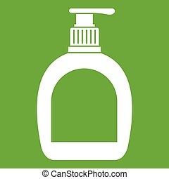 Bottle with liquid soap icon green