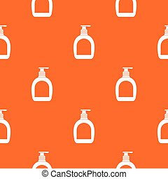 Bottle with liquid soap pattern seamless