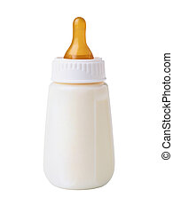 Bottle with milk for a baby