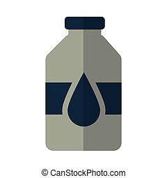 bottle with oil on white background