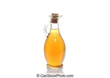 Bottle with olive oil. Isolated