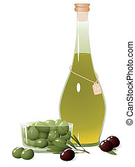 Bottle with olive oil