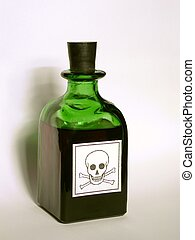 Bottle with Poison - Bottle with some liquid inside.